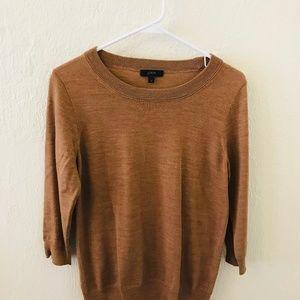 Camel J Crew Merino Wool Sweater